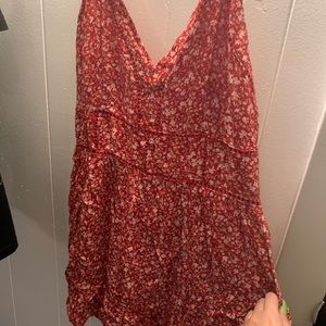stretchy red romper